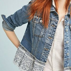 Anthropologie Pilcro Eyelet Denim Jacket - Women's